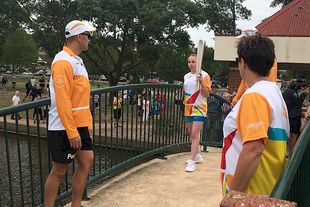 Queen's baton in Morwell
